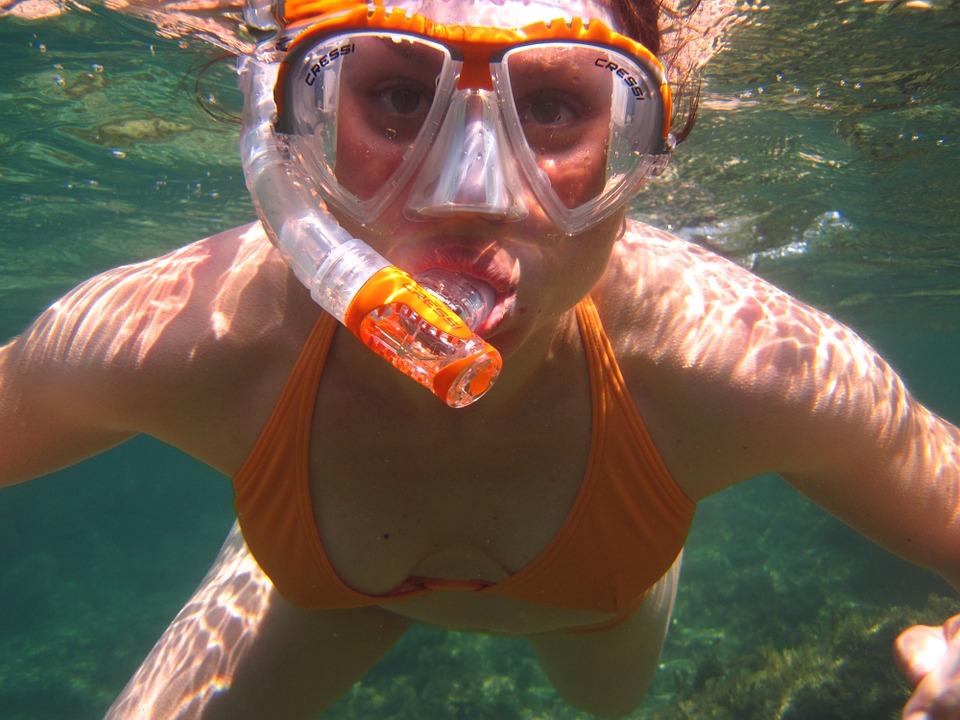 snorkeling in marina